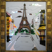 Картина из стекла «Париж»