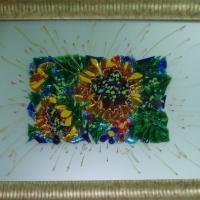 Картина из стекла «Подсолнухи»