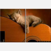 """Модульная картина """"Спящий котенок"""""""