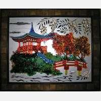 Картина из стекла «Пагода»