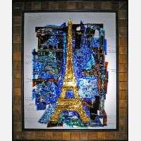 Картина из стекла «Парижская башня»