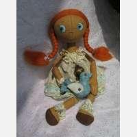 Интерьерная кукла Рыжуля
