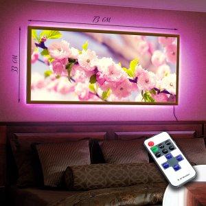 """LED – картина """"Нежно розовое цветение"""""""