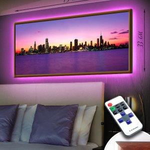 """LED – картина """"Ночь в большом мегаполисе"""""""