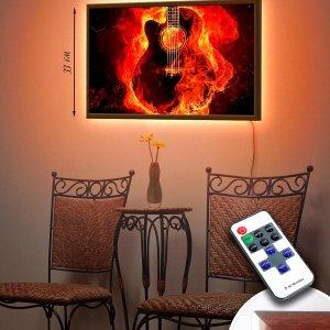 """LED – картина """"Огненная гитара"""""""