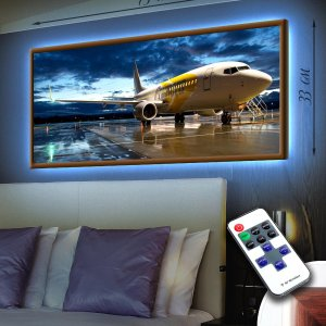 """LED – картина """"Самолет"""""""