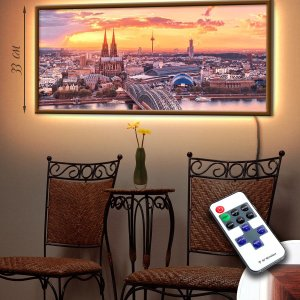 """LED – картина """"Город и закат"""" (код Led2-47)"""