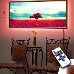 "LED – картина ""Красное дерево"""