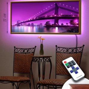 """LED – картина """"Мост и город"""" (код Led2-40)"""