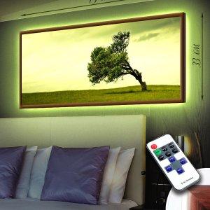 """LED – картина """"Одинокое дерево"""""""