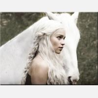 """Картина на холсте """"Девушка с лошадью"""""""
