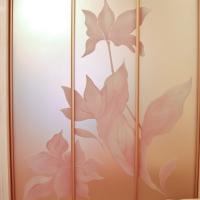 Пескоструй цветной на зеркале-сатин