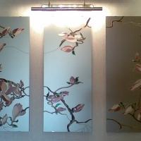 """Роспись стекла """"Орхидеи"""""""
