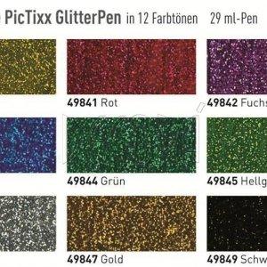 Универсальный контур Pic Tixx Glitter Желтый
