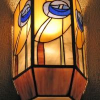 Светильник Тиффани с синим цветком