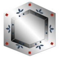 Зеркало с рисунком многоугольное