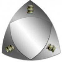 Зеркало треугольное двойное с фьюзингом